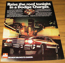 1977 Ad~The 77 Dodge CHARGER~T-BAR Roof - $9.25