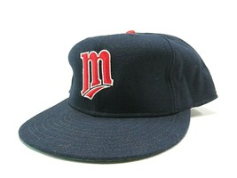 Vtg 80s New Era Minnesota Twins MLB Baseball Fitted Hat Size 7 3/4 Made ... - $47.48