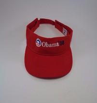 Barack OBAMA 2008 Red Visor Cap Hat One Size Presidential Election Colle... - $19.34