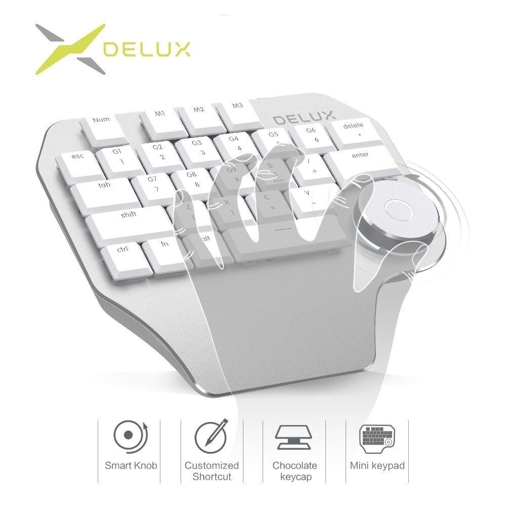 62c16d70cc2 Delux® T11 Designer Keyboard With Smart Dial and 50 similar items