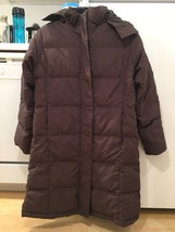 LL.Bean Brown 3/4 Length Ultrawarm Goose Down Coat Size S Retail $229 75... - $59.99