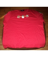 Ugly Christmas Sweater Cute Shirt Snowman Gingerbread People Size 1X  Un... - $9.00