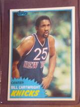 1981 Topps Bill Cartwright #26 Knicks Fair Condition - $12.00