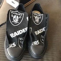 New Black custom Raiders Converse Size 8 - $90.00