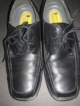MENS DOCKERS PRO STYLE BLACK LEATHER LACE UP OXFORD SHOES SZ 9.5 W (79-2... - $23.71