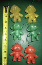 "6 VTG PLASTIC 3"" TROLL DOLLS HONG KONG VENDING MACHINE TOY ORNAMENT FLIC... - $9.95"