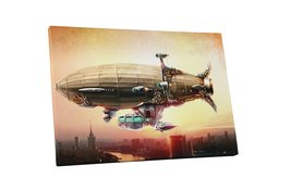 "Pingo World 1222PE67YBM ""Pop Moscow City Blimp"" Gallery Wrapped Canvas A... - $42.52"