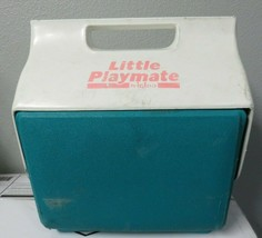 Vintage Igloo Little Playmate Mate Retro Cooler Fuchsia Teal White & Pink  - $19.79