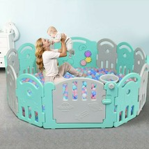 14-Panel Baby Playpen with Music Box & Basketball Hoop - new (cy) - $151.99