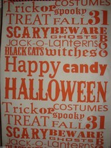 "New Storehouse 100% Cotton Table Runner 18"" x 80"" Halloween Theme Ivory/Orange image 2"