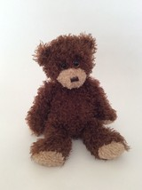 "TY Classic brown SHAGGY THE TEDDY BEAR 12"" curly plush toy 2015 - $9.49"