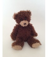 """TY Classic brown SHAGGY THE TEDDY BEAR 12"""" curly plush toy 2015 - $9.49"""