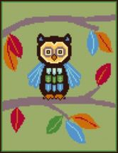 Latch Hook Rug Pattern Chart: Cindy's OWL - EMAIL2u - $5.75