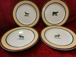 "Fitz & Floyd Sequoia Habitat Americana Set of 4 Dinner Plates 10 5/8"" - $42.56"