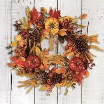 "Harvest Pumpkin & Berry Wreath 24"" - $77.20"