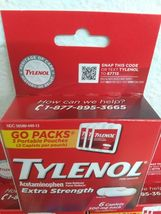 (3)~Sealed Boxes of Tylenol Extra Strength ,Travel Packs~ Exp. 07/2023~ Go Packs image 3