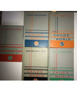 The Child's World 5 Volume Set Circa 1950s Illustrated Hardcover World P... - $188.10