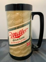 VINTAGE MILLER HIGH LIFE BEER THERMO SERV INSULATED PLASTIC MUG CUP COORS - $6.00