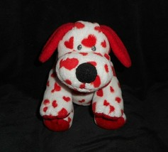 TY 2006 PLUFFIES SWEETLY PUPPY DOG RED HEARTS WHITE STUFFED ANIMAL PLUSH... - $17.77