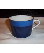 RALPH LAUREN Mug MARINA STRIPE Blue Silver Two Tone Cup 12 oz HARD TO FIND - $18.89