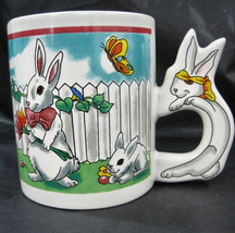 Rabbit Bunny Easter Holiday Spring Ceramic Coffee Tea Mug Cup Container ... - $19.95