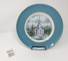 Avon 1974 Christmas Church Collector's Plate - Second Edition - Country Church - $5.99