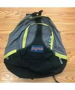 VTG Vintage 1990s 90s JanSport Gray/Black/Green Canvas Backpack School Bag - $129.99