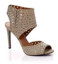 New $139 Enzo Angiolini Branon Taupe Grommet Sandals Open Toe Heels Sz 9.5 - $43.37