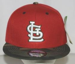 Green Cabbage Premium Headwear St Louis Cardinals Camo Snapback Cap image 1