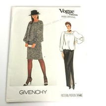 Vogue 1142 Pattern Givenchy Size 6 8 10 Skirt Top Paris Original Uncut ❤️ - $19.99
