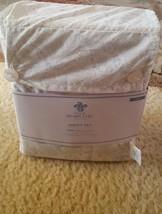 vtg TWIN sheet set Simply Shabby Chic blue-grey white FLORAL VINE paisle... - $25.99