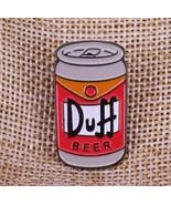New Duff Beer from The Simpsons Enamel Pin Rave Lapel Custom Metal Brooch - $10.99