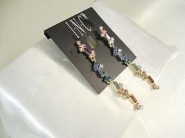 INC International Concepts Gold Tone Multi Stone Linear Drop Earrings R6... - $13.43