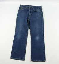 Vintage 80s Levis Orange Tab Mens 34x29 517 Boot Cut Denim Jeans Pants Blue USA - $44.50