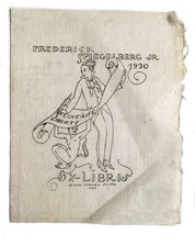 Ex Libris Exlibris Bookplate Frederick Spiegelberg Jr. Ismael Smith Love... - $39.59