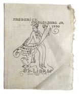 Ex Libris Exlibris Bookplate Frederick Spiegelberg Jr. Ismael Smith Love... - $39.59