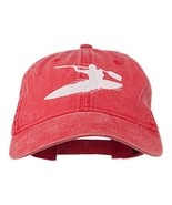 Sports Kayak Embroidered Washed Dyed Cap - Red OSFM - $24.15