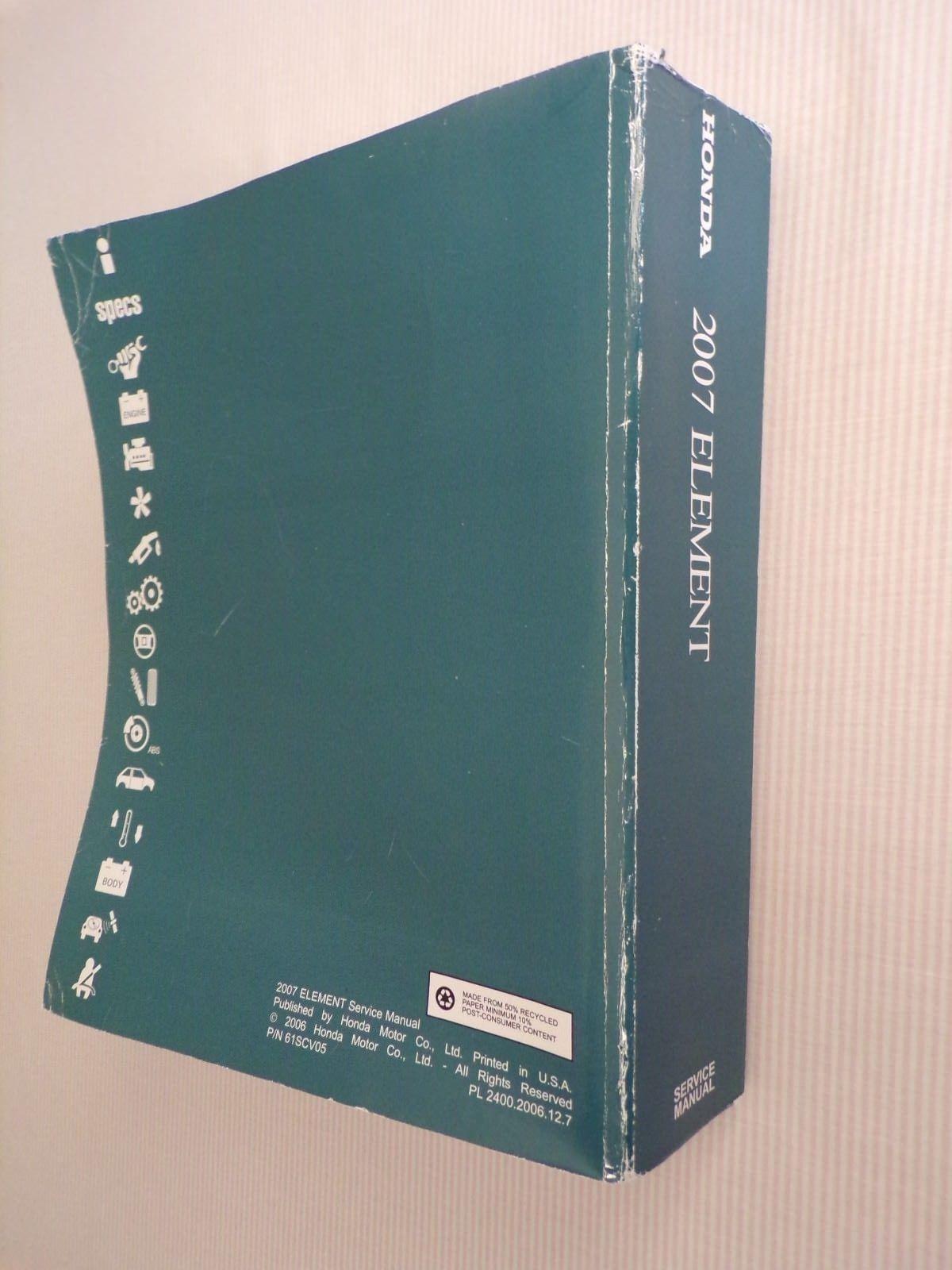 2007 honda element service manual paperback and 50 similar items rh bonanza com 2007 honda element owners manual pdf Honda Element Maintenance