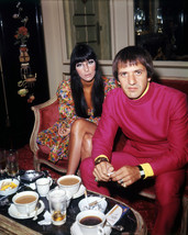 Cher and Sonny Bono Portrait Rare Image Circa 1970 16x20 Canvas - $69.99