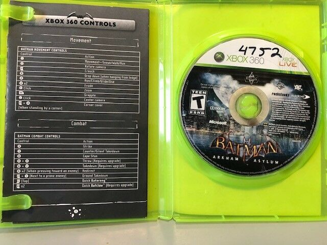 Batman Arham Asylum (Xbox 360, 2009), Tested, FREE SHIPPING, USA Seller image 2