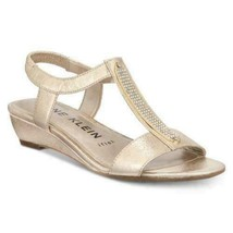 Anne Klein Melessa Embellished Wedge Sandals, Comfort Shoes, Platino, Si... - $29.99