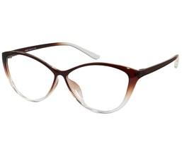 EBE Women Reading Glasses Reader Cheaters Cat Eye Brown TR90 Flex - $14.59+