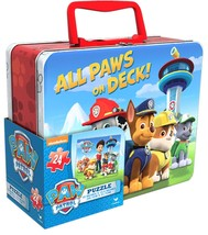 """All Paws on Deck Paw Patrol Puzzle in Tin, 24 Pieces (8"""" x 6"""" x 3"""") Large - $10.39"""