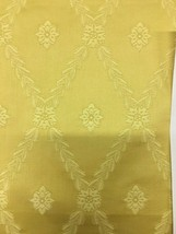 Stroheim and Romann Traditional Laurel Diamond Gold Upholstery Fabric 1.... - $39.90