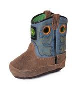 John Deere Baby Infant Boy's Johnny Poppers Western Crib Boots JD0317 - $35.99