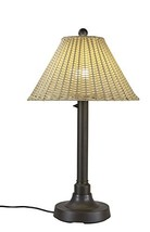 """Patio Living Concepts 19217 Tahiti Outdoor Table Lamp with 2"""" Tubular Body, 34"""""""