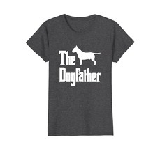 The Dogfather t-shirt Bull Terrier silhouette funny dog - $19.99+