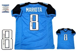 Marcus Mariota AUTOGRAPHED Signed Jersey - Beckett Authentic - Blue - $207.89