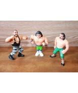 Lot of 3 Hasbro Wrestlers-Bushwacker-Jake the Snake-The Rocker Shawn Mic... - $24.99