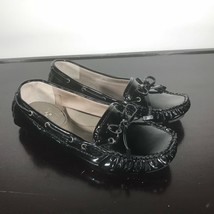 "VINCE CAMUTO Sz 6 ""Paula""  Black Patent Leather Driving Loafers Shoes. Nice! - $23.76"